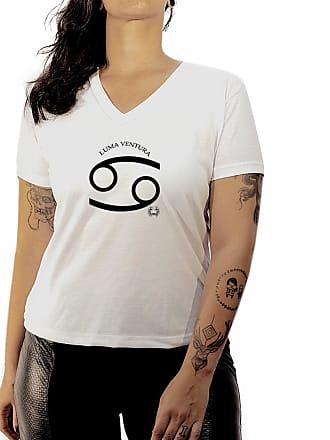 Luma Ventura Camiseta Luma Ventura Signo Câncer Branca