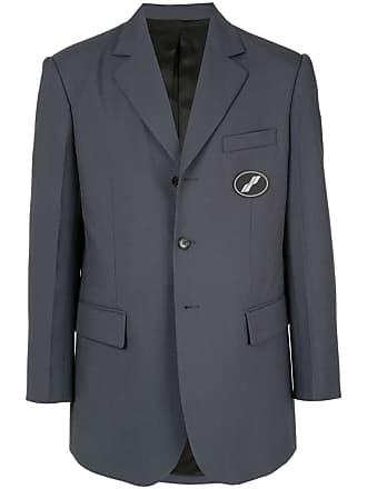 We11done Blazer oversized com logo - Azul