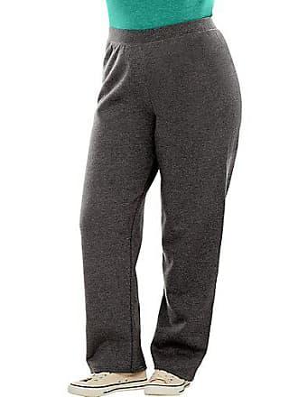 Just My Size ComfortSoft EcoSmart Fleece Open-Hem Womens Sweatpants, Average Length Violet Splendor Heather 1X