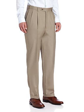 058a776c3c7c10 Louis Raphael LUXE Mens 100% Wool Pleated Dress Pant with Hidden Extension  Waist Band,
