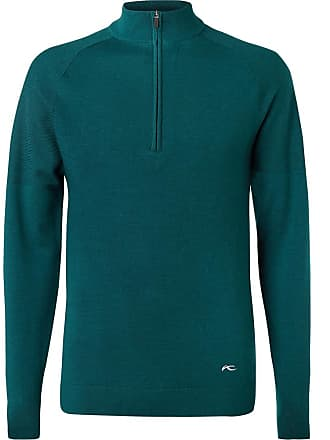 Kjus Golf Kulm Knitted Half-zip Sweater - Green