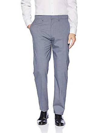 Haggar Mens Subtle Plaid Stretch Slim Fit Suit Separate Pant, Medium Blue 1, 34Wx34L