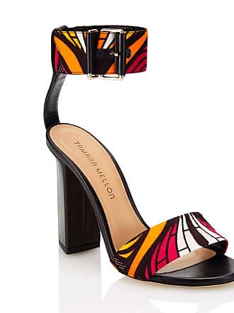 Tamara Mellon Largo Black Nappa Sandals, Size - 35.5