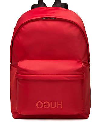 HUGO BOSS Reversed-logo backpack in nylon gabardine