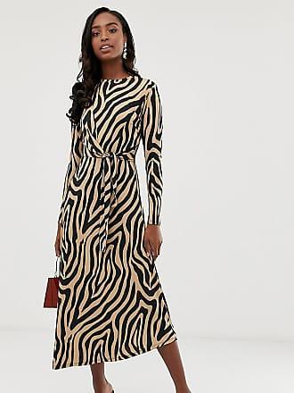 421fbc94b684 Asos Tall ASOS DESIGN Tall tie waist maxi dress in animal print - Multi