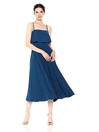 Jill Stuart Womens Pleated Popover Dress, Dark Blue, 4