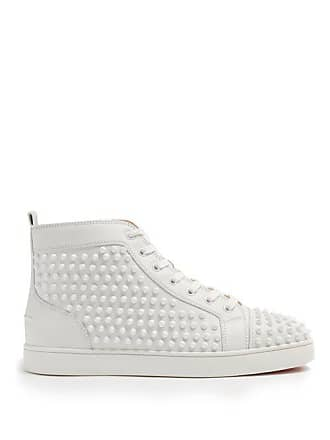 5a4115484ea Christian Louboutin Louis Spiked Leather High Top Trainers - Mens - White