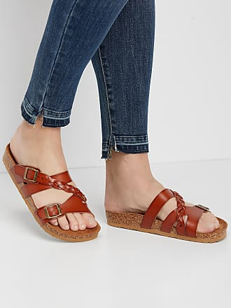 Maurices Womens Peony Braided Strap Sandal Brown