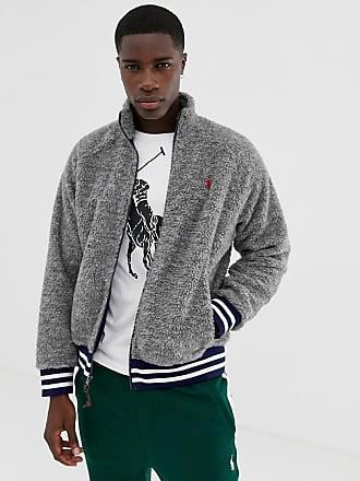 Polo Ralph Lauren Chaqueta Great Outdoors en gris marga de forro polar y  borreguito con ribetes b8b973a11756