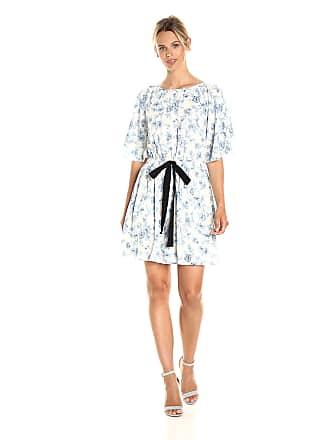 95dcce2c65e Moon River Womens Floral Print Waist Tie Dress Dress - Blue