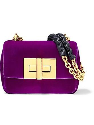 628c74784864 Tom Ford Natalia Mini Velvet Shoulder Bag - Purple