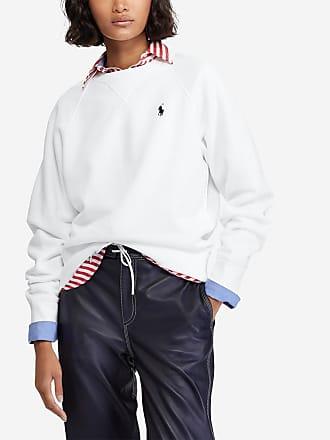 421a36fb7af Polo Ralph Lauren Sweat à manches longues logotypé Blanc Polo Ralph Lauren