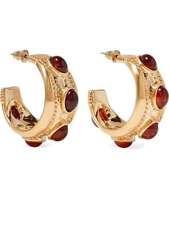 Kenneth Jay Lane Gold-plated And Tortoiseshell Resin Hoop Earrings