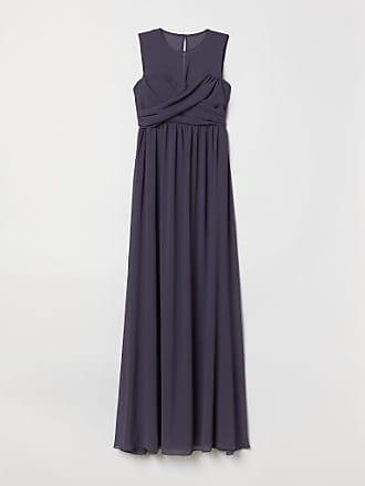 H&M Long Draped Dress - Blue