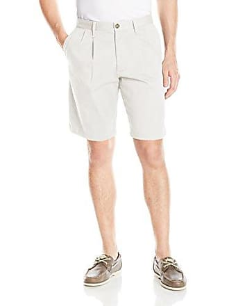 Dockers Mens Perfect Short D3 Classic-Fit Pleated Short, White Caps (Stretch), 29W