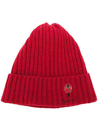 2ad5a77833348 Gucci pierced heart beanie hat - Red
