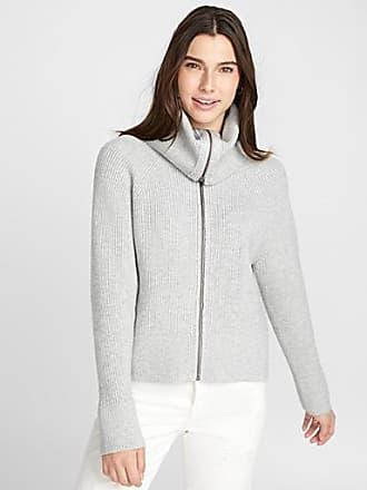 Twik Metallic zip turtleneck cardigan
