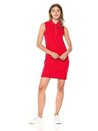Lacoste Womens Sleeveless Classic Micro Pique Polo Dress, Ef3059, Toreador 4