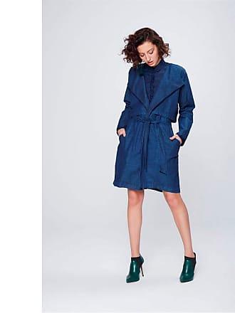 Damyller Trench Coat Jeans Feminino Tam: PP/Cor: BLUE