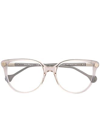 Salvatore Ferragamo Armação de óculos transparente - Cinza