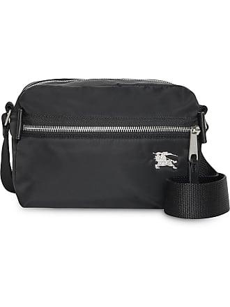 320eec3333cd Burberry EKD Aviator Nylon and Leather Crossbody Bag - Black