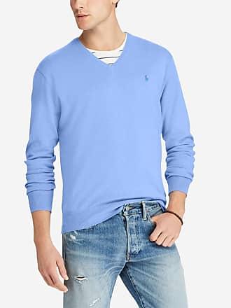 Polo Ralph Lauren Pull en coton puma slim fit Bleu Polo Ralph Lauren 7271abf5b0ca