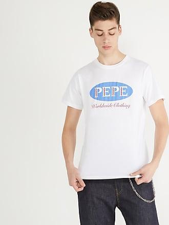 2b17ce9361f Pepe Jeans London T-shirt droit floqué Blanc Pepe Jeans