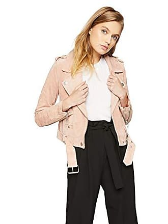 590bbfb3b Blank NYC Womens Suede Moto Jacket Outerwear, Candy Crush, L