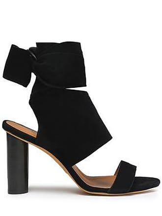 Iro Iro Woman Ditta Bow-detailed Suede Sandals Black Size 39