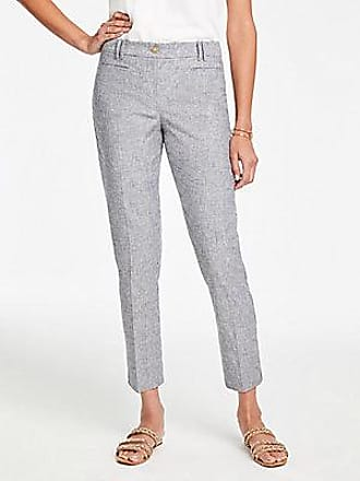 ANN TAYLOR The Cotton Crop Pant in Stripe - Curvy Fit