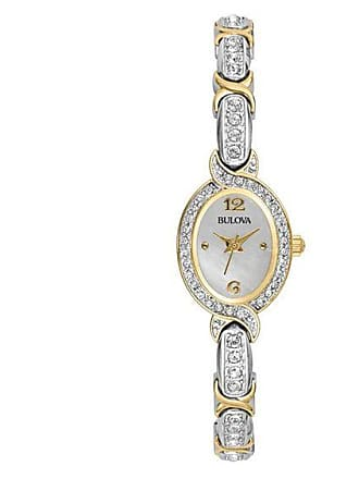 Zales Ladies Oval Bulova Crystal Watch (Model: 98L005)