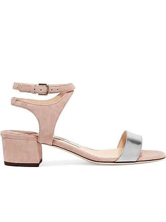 5f705721ac14 Jimmy Choo London Marine 35 Suede And Metallic Leather Sandals - Neutral