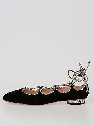 9db36556274 Valentino GARAVANI Velvet and Reptile Skin Ballet Flats size 38