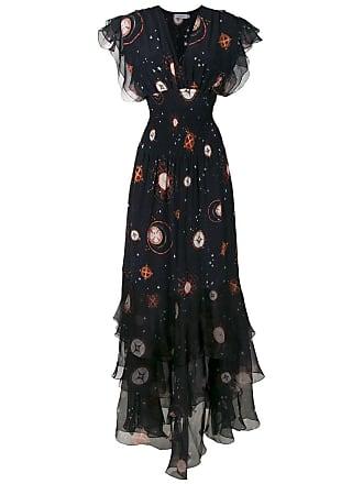 Isolda Vestido longo Pri de seda - Preto
