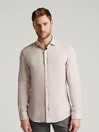 Hackett Mens Stripe Trim Linen Shirt   Medium   Grey