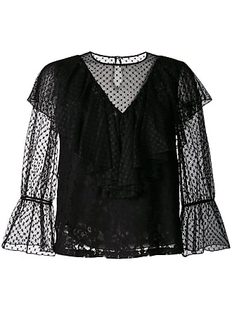 See By Chloé ruffled lace blouse - Preto