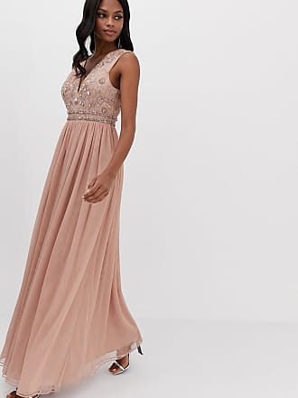 fa6269ef631 Asos maxi dress with embellished bodice and tulle skirt - Pink