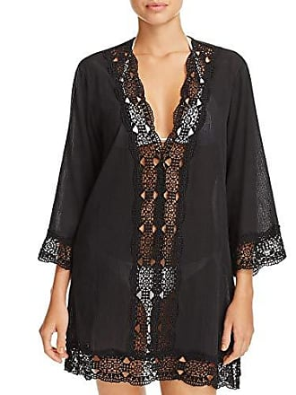La Blanca Womens Lace V-Neck Tunic Dress, Black/Island Fare Print, Extra Small