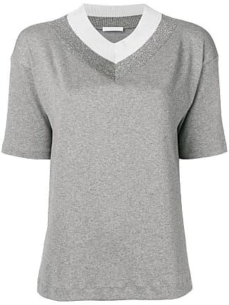 Fabiana Filippi v-neck T-shirt - Grey