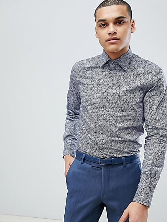 df20a57a793 Esprit Slim Fit Shirt With Floral Print In Navy - White
