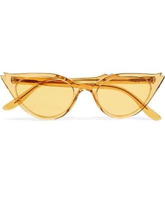 Illesteva Isabella Cat-eye Acetate Sunglasses - Yellow