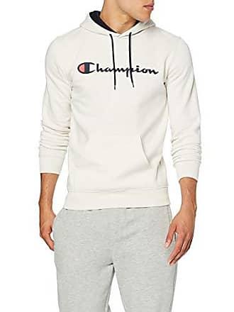 743d82d1322a5 Champion Classic Logo Sweat-Shirt à Capuche pour Homme, Écru (Vapy/NNY
