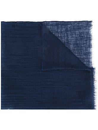Eleventy Cachecol de linho com acabamento desfiado - Azul
