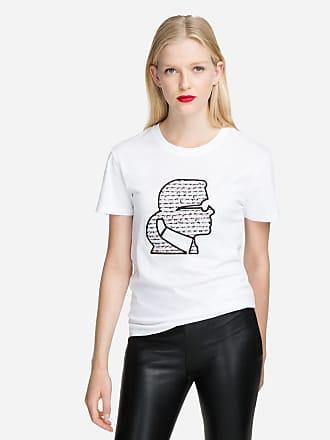 Karl Lagerfeld Karl Cameo Bouclé T-Shirt
