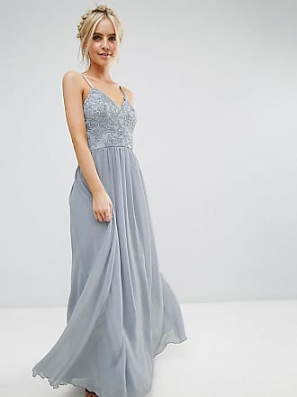 3c0db1d9fbd Chi Chi London Petite Cami Strap Maxi Dress with Premium Lace