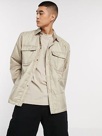 Weekday Jamie padded overshirt jacket in beige
