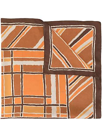 JEJIA abstract print scarf - Marrom