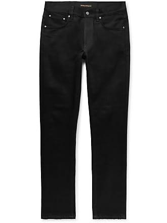 Nudie Jeans Lean Dean Slim-fit Stretch-denim Jeans - Black