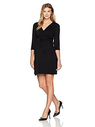 acdaff9bd8 Three Seasons Maternity Womens Maternity 3 4 Sleeve Surplice Dress
