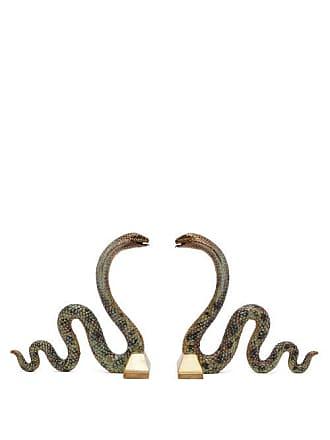 House of Hackney Cobra Brass Bookends - Silver Multi